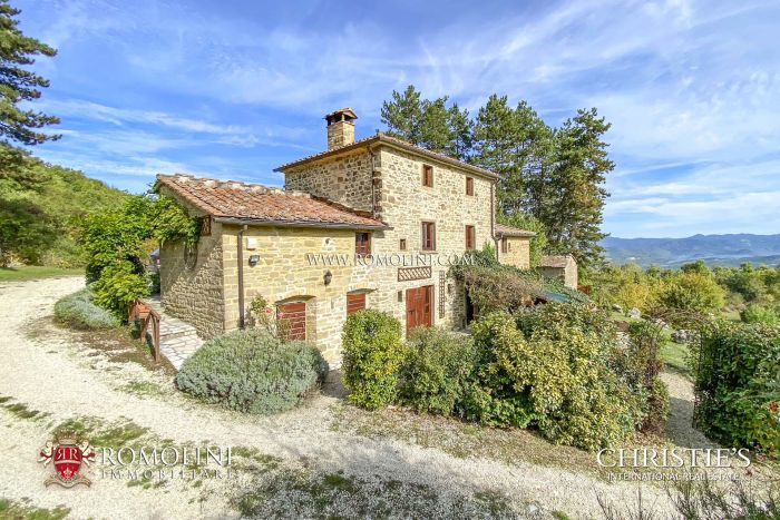LAKE VIEW COUNTRY HOUSE FOR SALE IN CAPRESE MICHELANGELO, TUSCANY